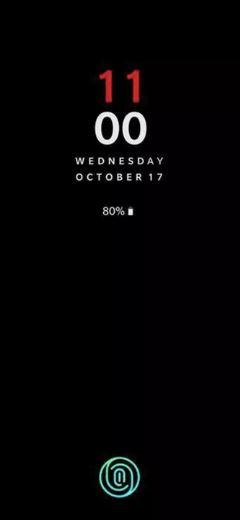 OnePlus 6T Screen lock