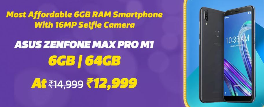 Flipkart's Big Billion Day Asus ZenFone Max Pro M1 Offer